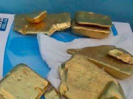 USA raw gold bars